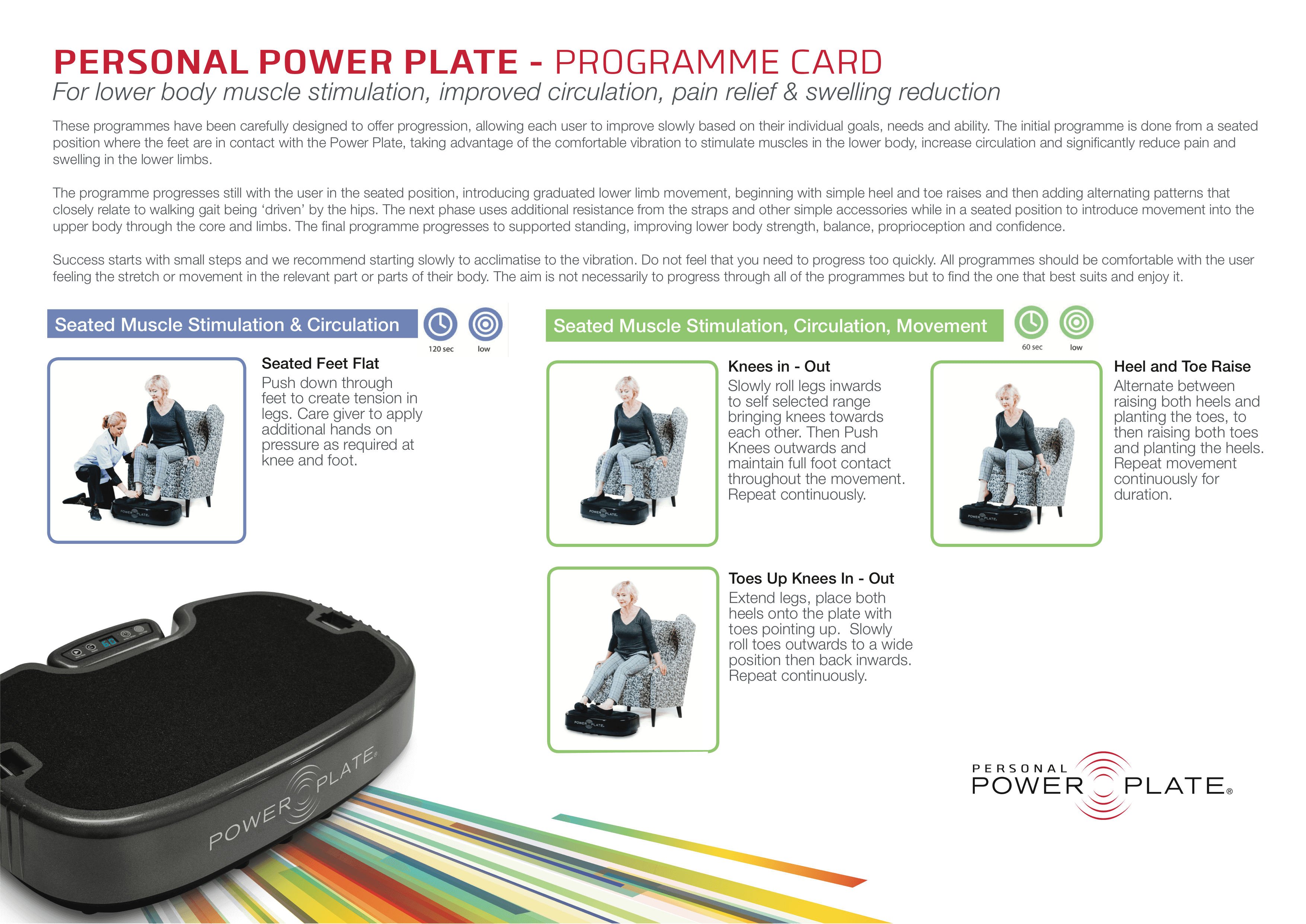 Personal Power Plate chair guide